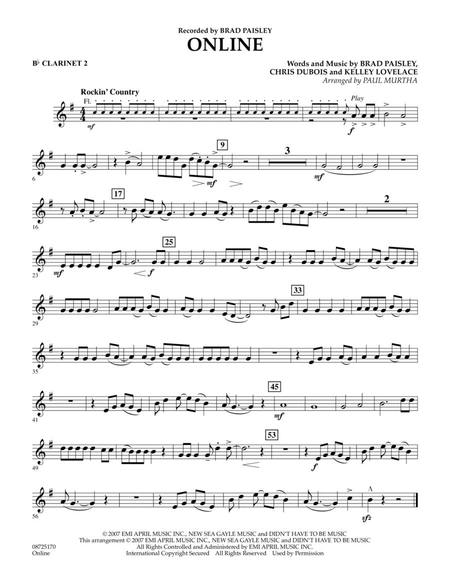 Online - Bb Clarinet 2