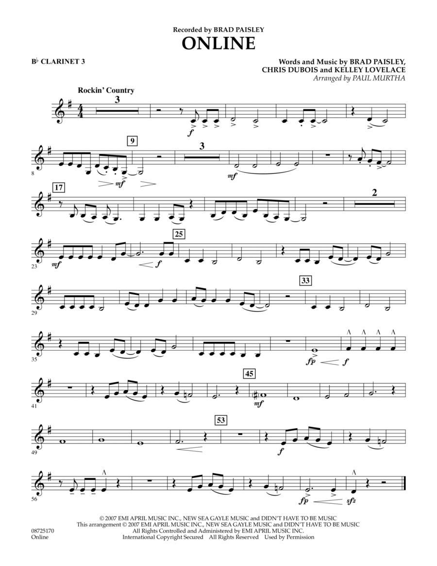 Online - Bb Clarinet 3