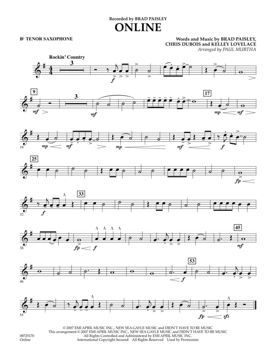 Online - Bb Tenor Saxophone