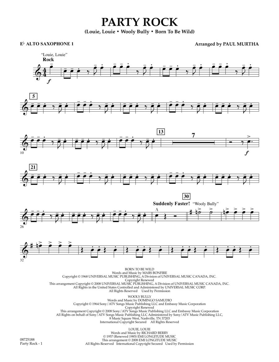 Party Rock - Eb Alto Saxophone 1