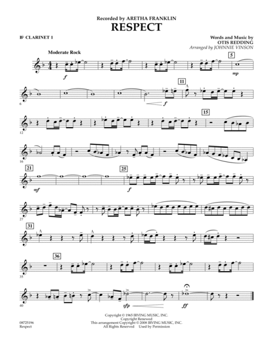 Respect - Bb Clarinet 1