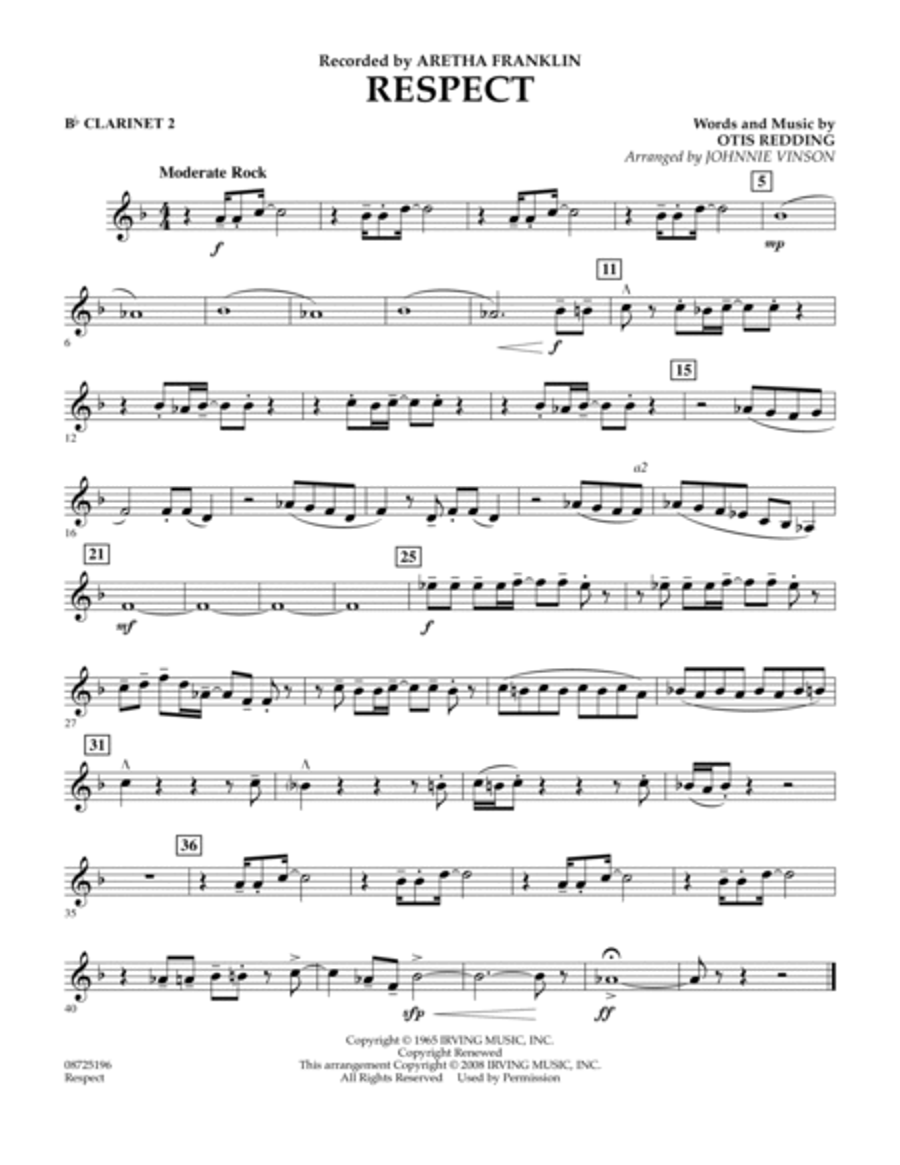 Respect - Bb Clarinet 2