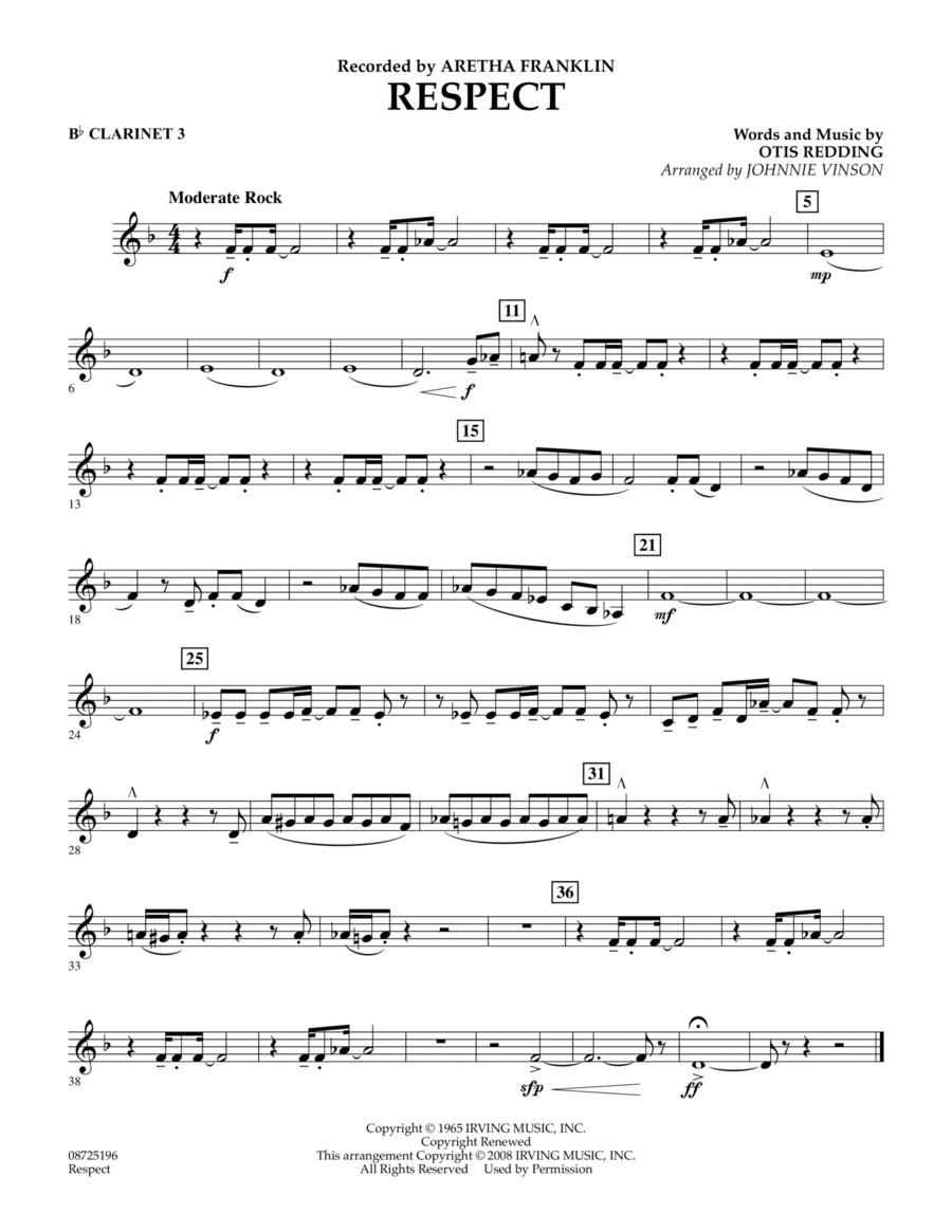 Respect - Bb Clarinet 3