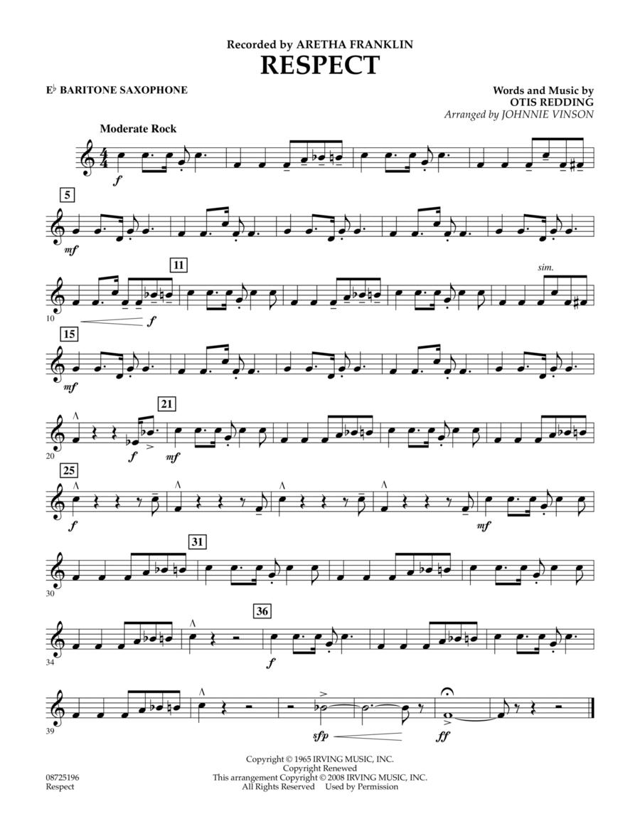 Respect - Eb Baritone Saxophone