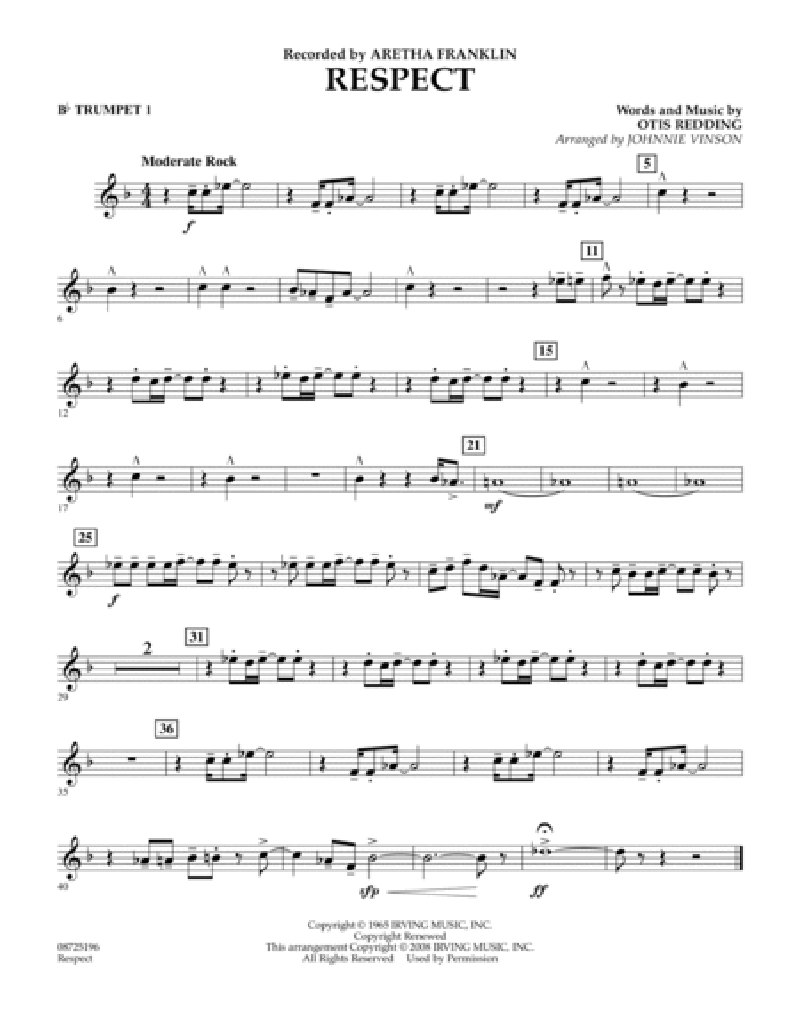 Respect - Bb Trumpet 1