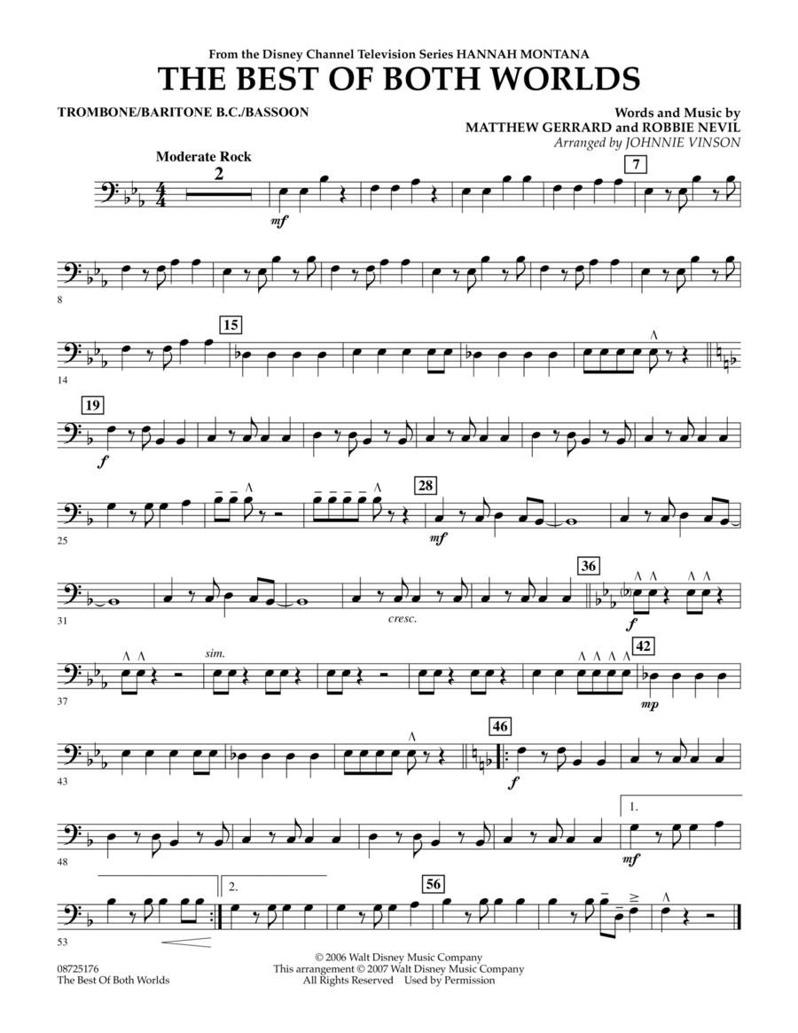 The Best Of Both Worlds (Theme from Hannah Montana) - Trombone/Baritone B.C./Bassoon