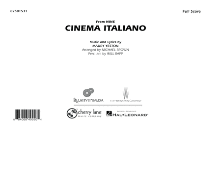 Cinema Italiano (from Nine) - Full Score