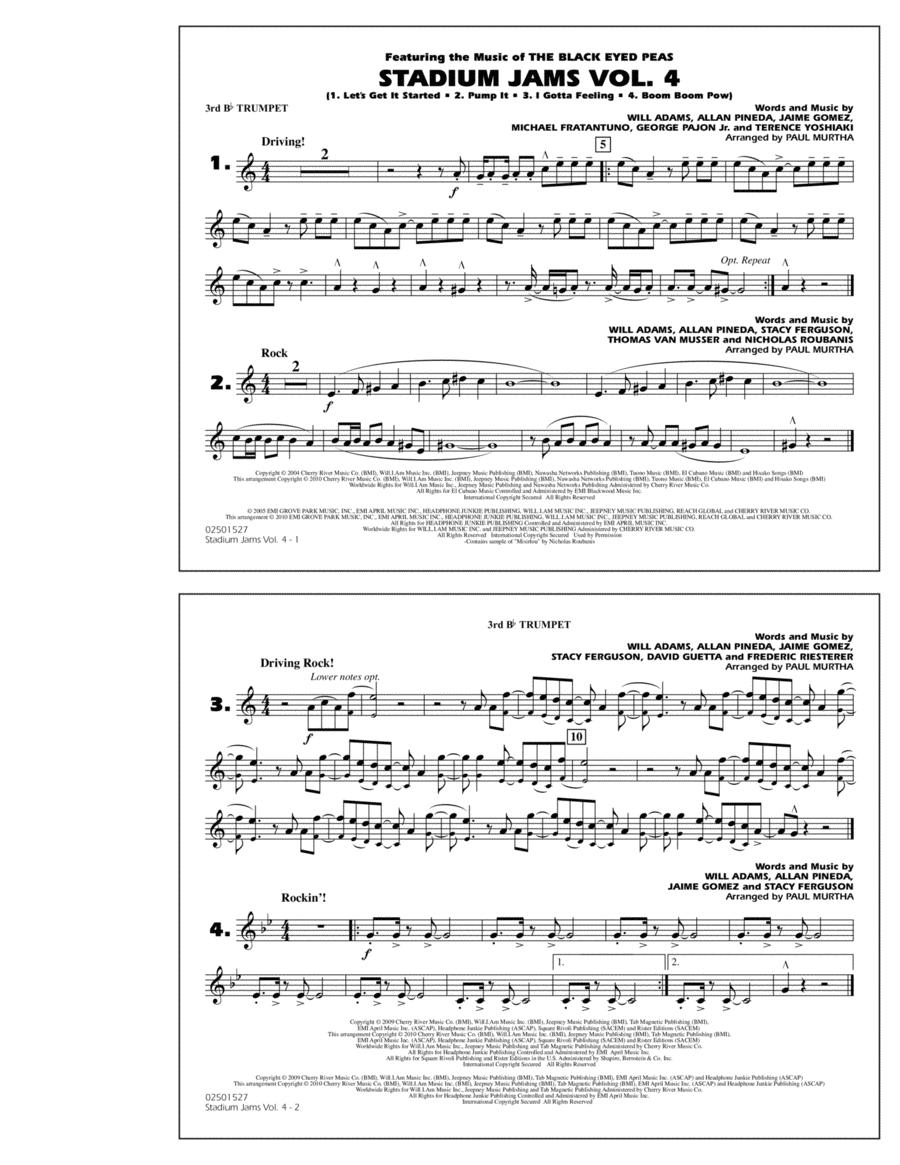 Stadium Jams: Vol. 4 - 3rd Bb Trumpet