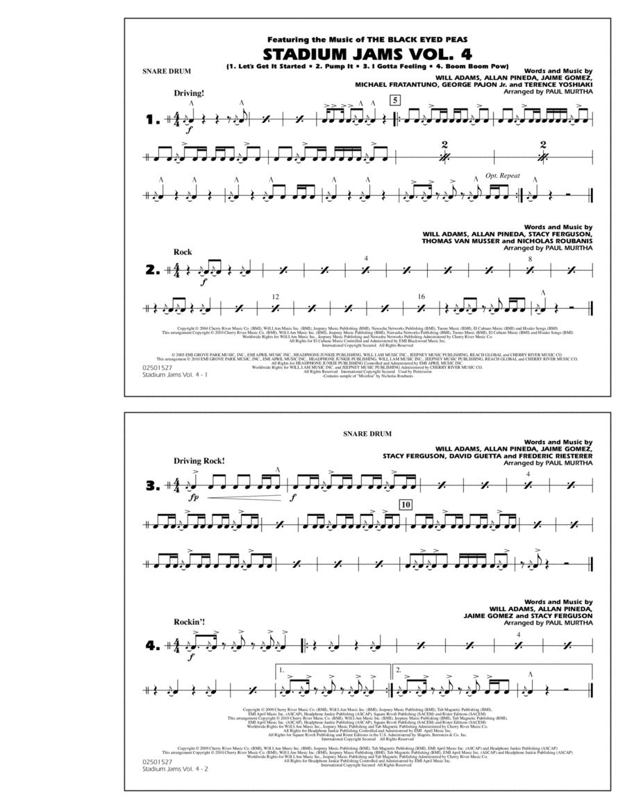 Stadium Jams: Vol. 4 - Snare Drum