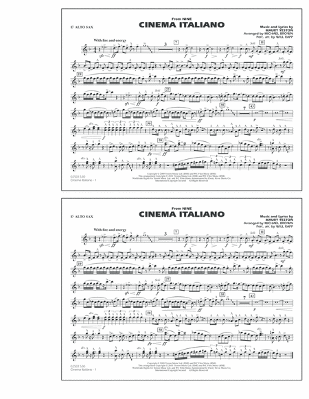 Cinema Italiano (from Nine) - Eb Alto Sax