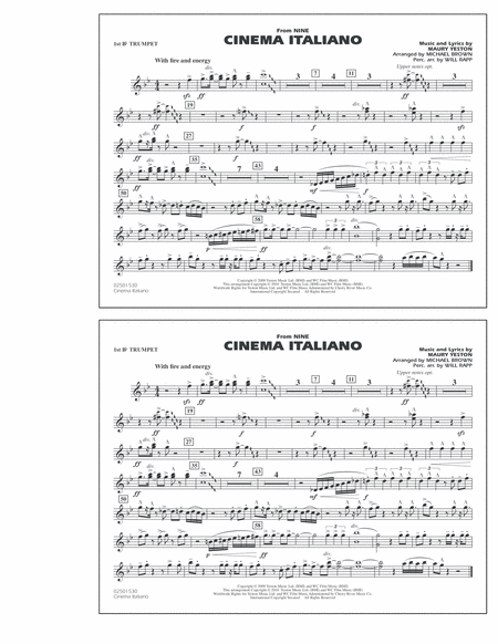 Cinema Italiano (from Nine) - 1st Bb Trumpet