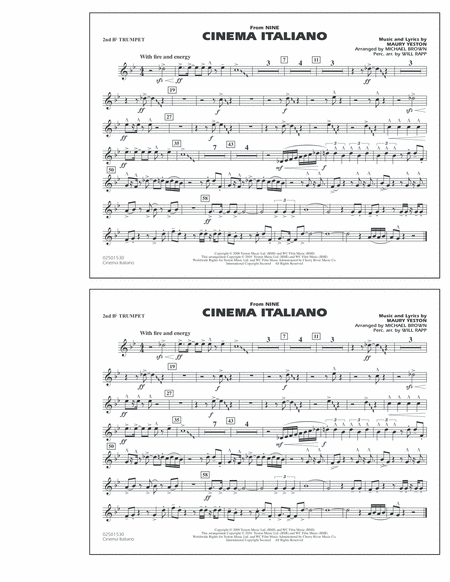 Cinema Italiano (from Nine) - 2nd Bb Trumpet