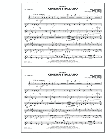 Cinema Italiano (from Nine) - 3rd Bb Trumpet