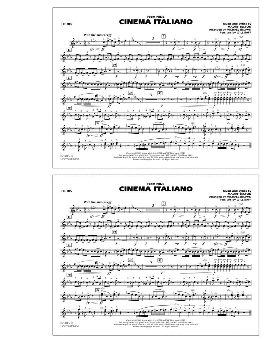 Cinema Italiano (from Nine) - F Horn