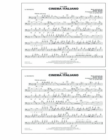 Cinema Italiano (from Nine) - 1st Trombone
