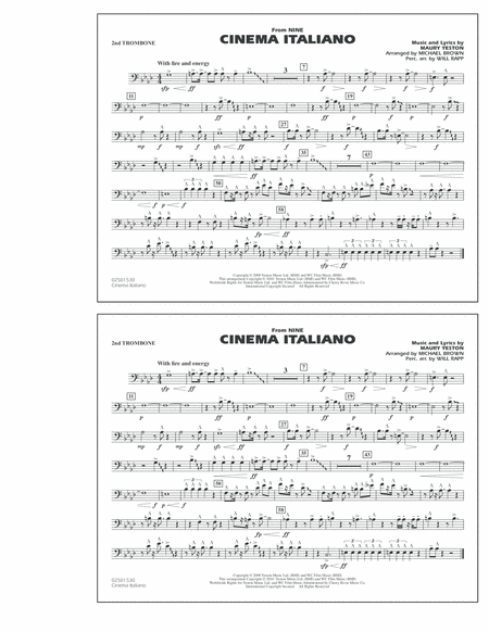 Cinema Italiano (from Nine) - 2nd Trombone
