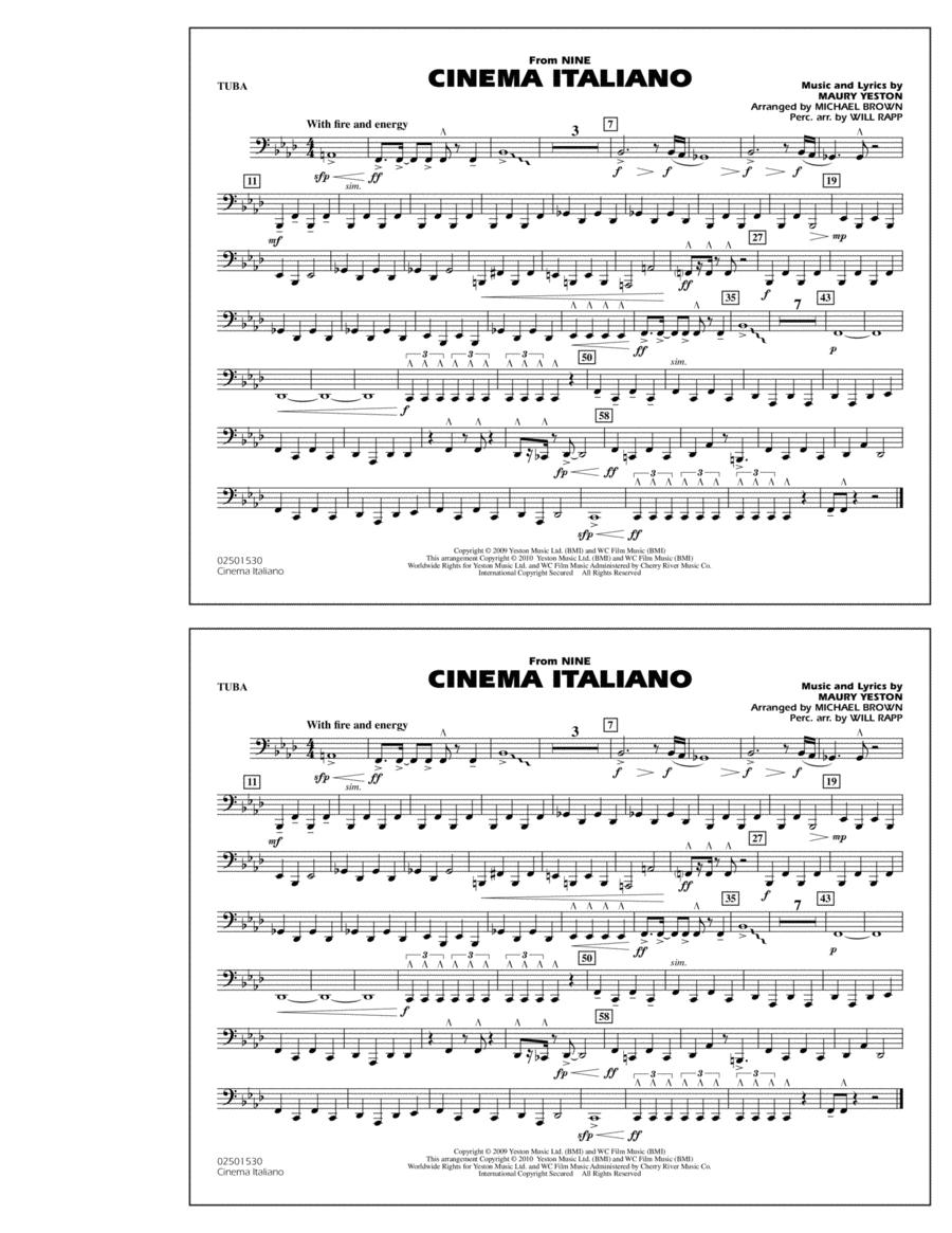 Cinema Italiano (from Nine) - Tuba