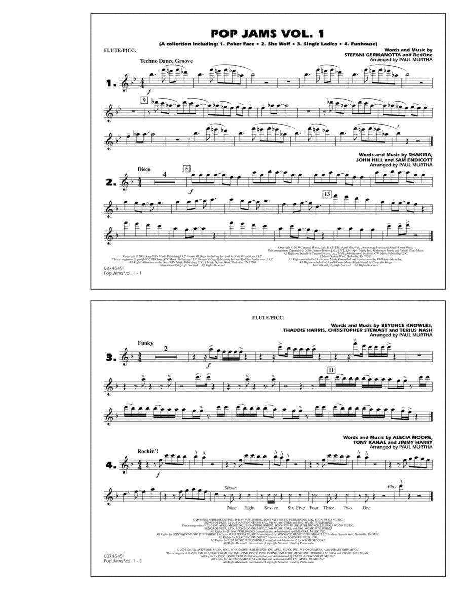 Pop Jams: Vol. 1 - Flute/Piccolo