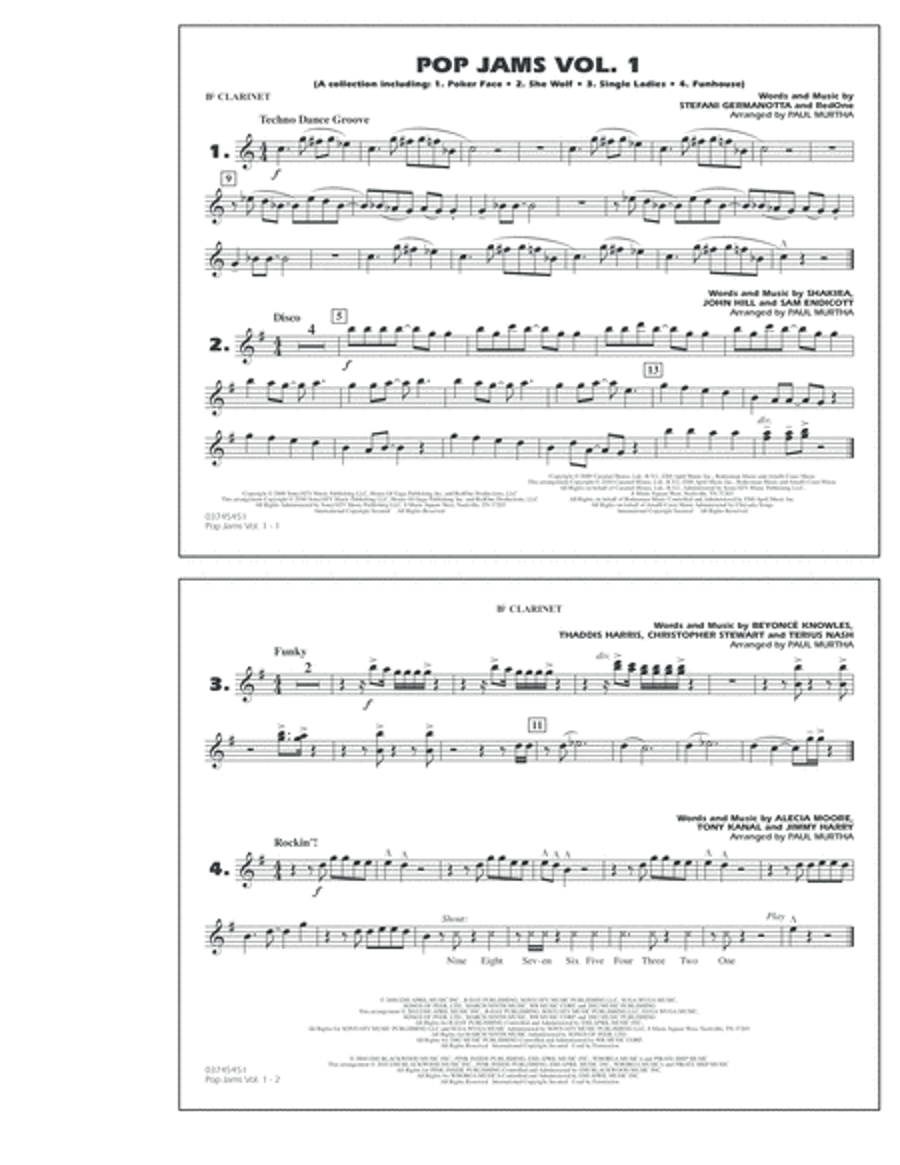 Pop Jams: Vol. 1 - Bb Clarinet
