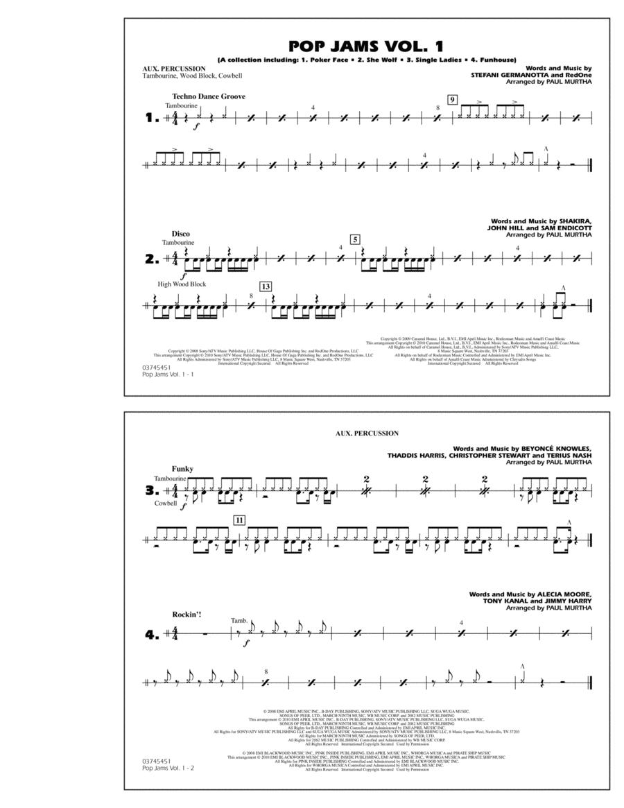 Pop Jams: Vol. 1 - Aux Percussion
