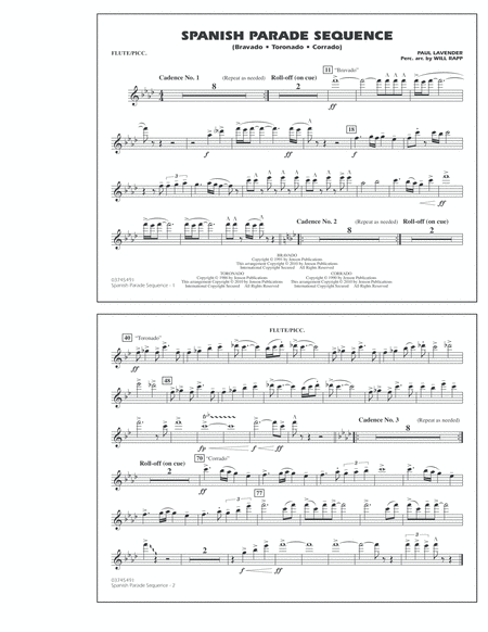 Spanish Parade Sequence - Flute/Piccolo