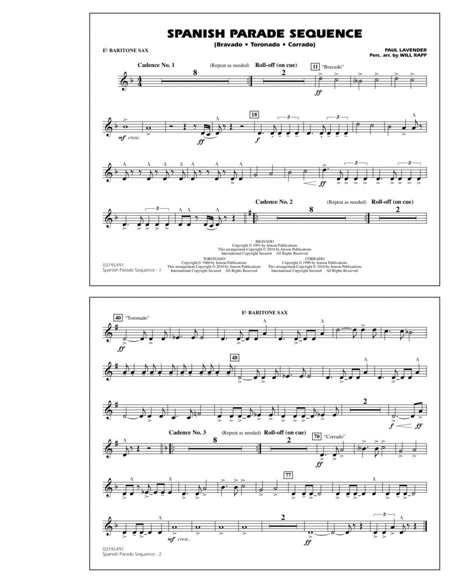 Spanish Parade Sequence - Eb Baritone Sax