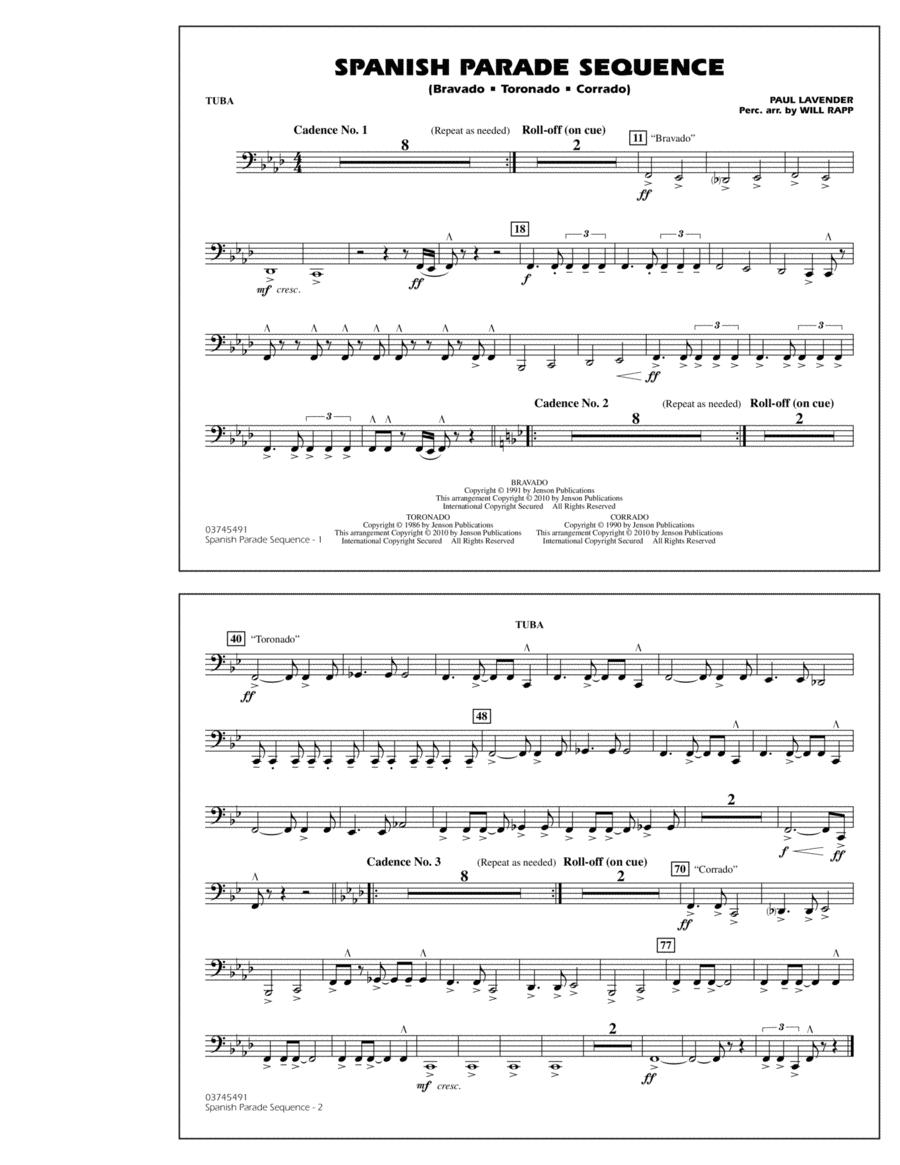 Spanish Parade Sequence - Tuba