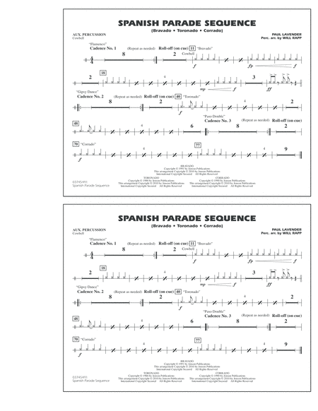Spanish Parade Sequence - Aux Percussion
