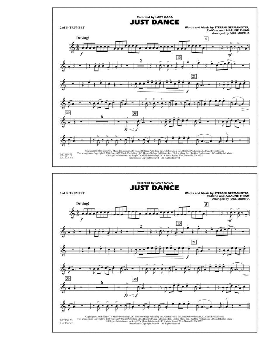 Just Dance - 2nd Bb Trumpet