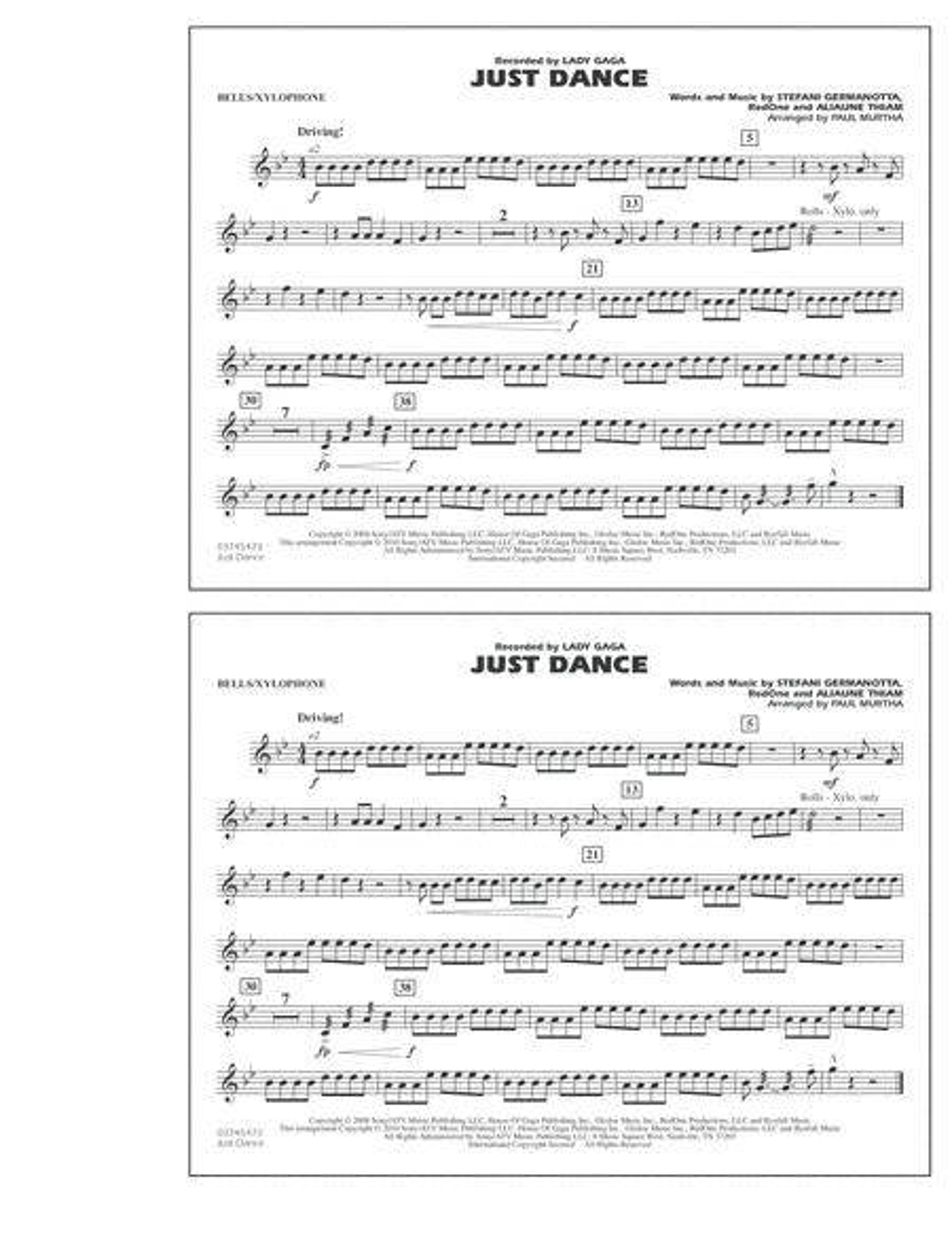 Just Dance - Bells/Xylophone