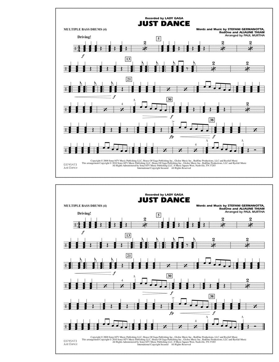 Just Dance - Multiple Bass Drums
