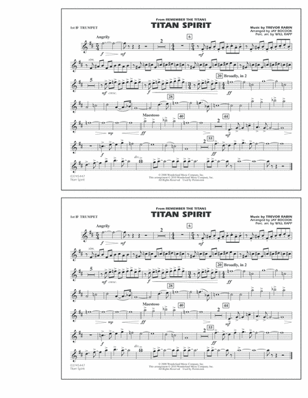 Titan Spirit (Theme from Remember The Titans) - 1st Bb Trumpet