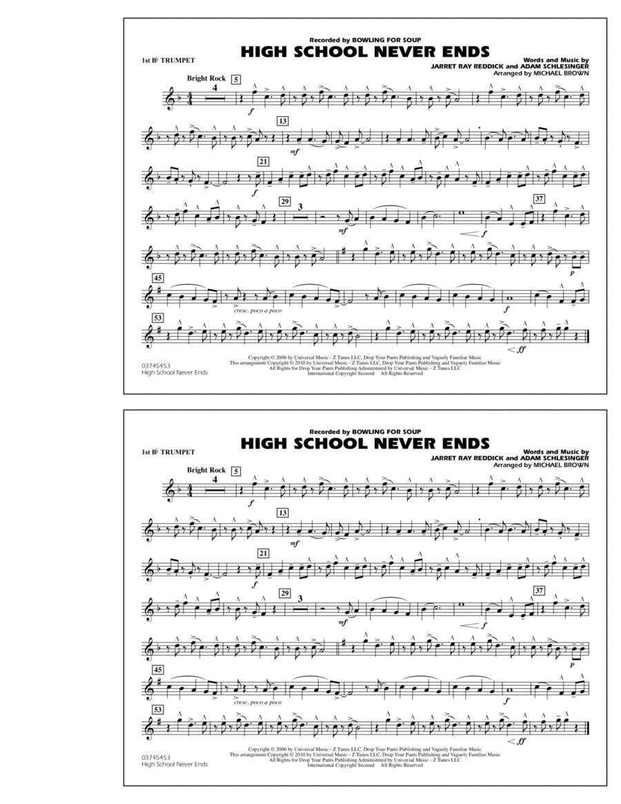 High School Never Ends - 1st Bb Trumpet