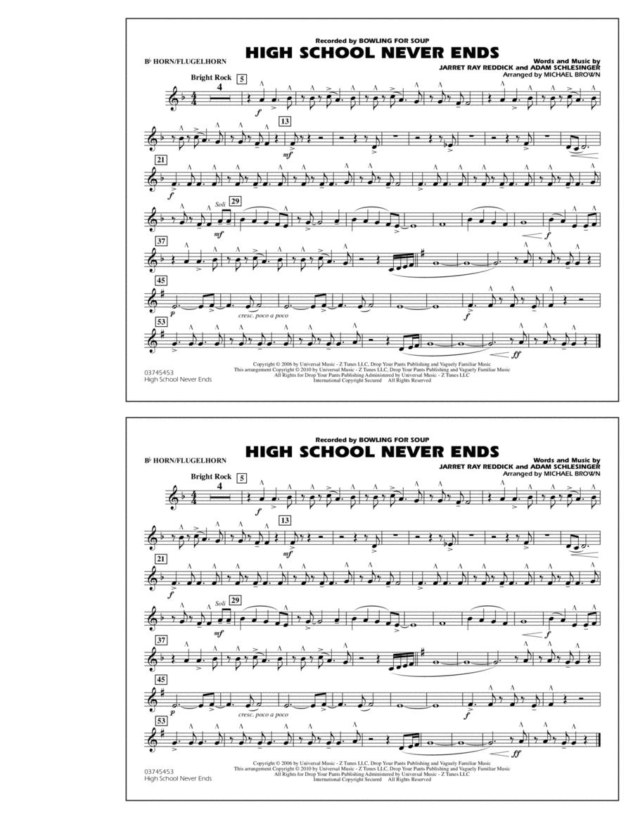 High School Never Ends - Bb Horn/Flugelhorn