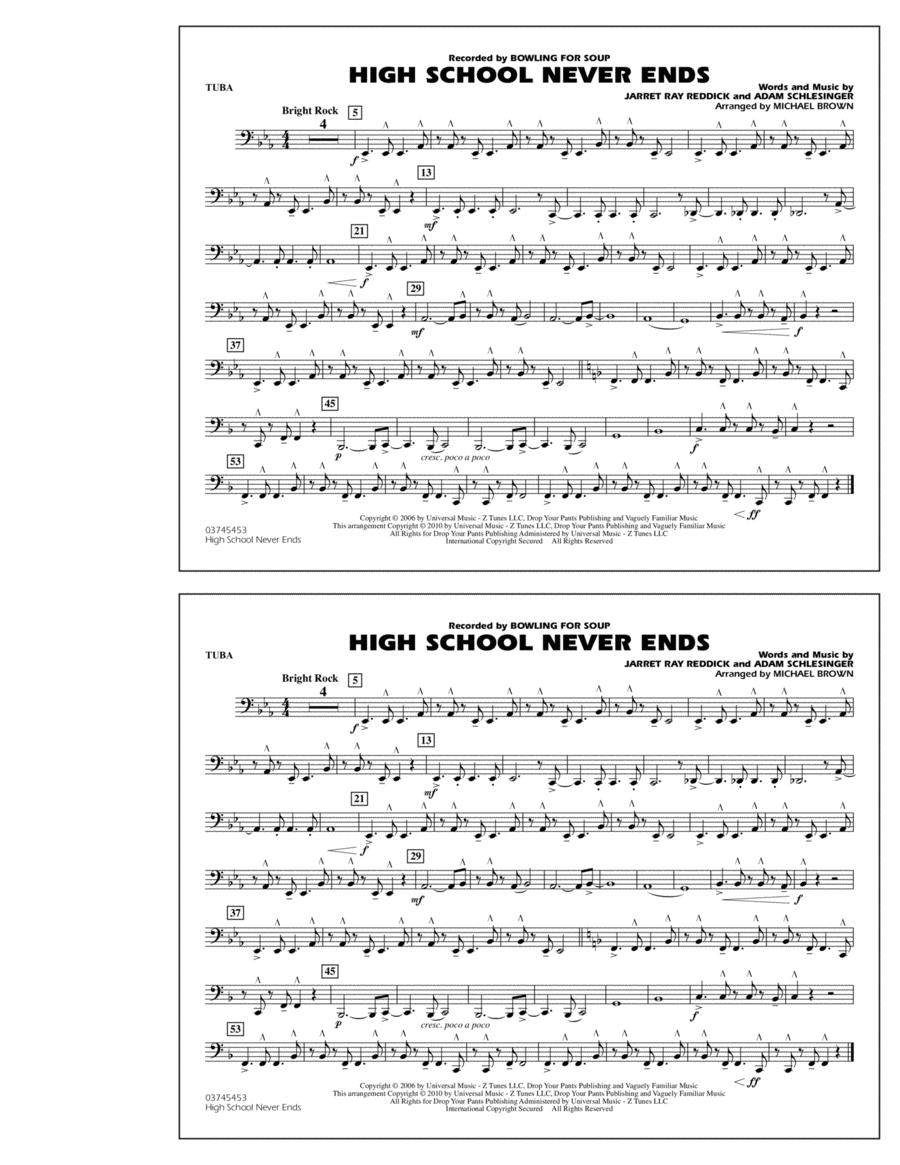 High School Never Ends - Tuba