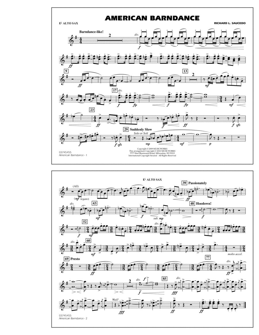 American Barndance - Eb Alto Sax