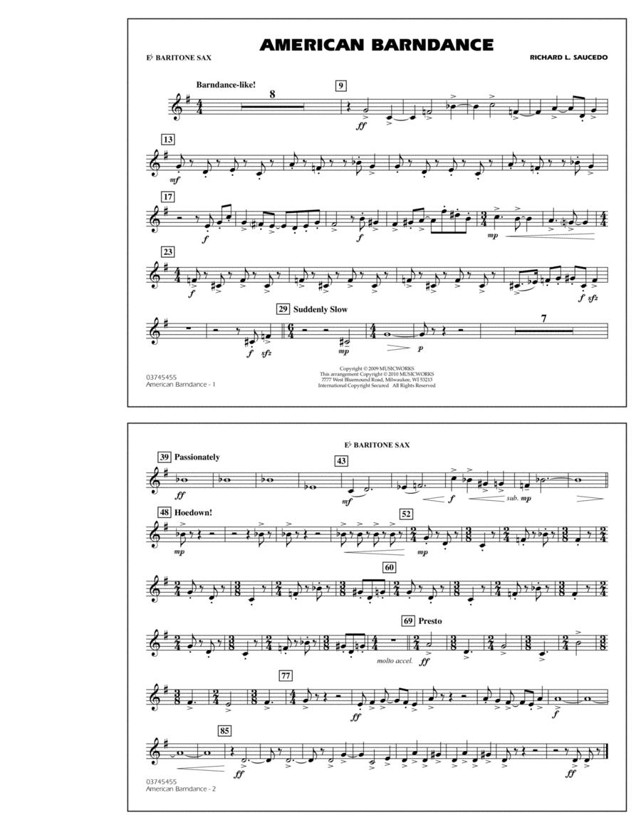 American Barndance - Eb Baritone Sax