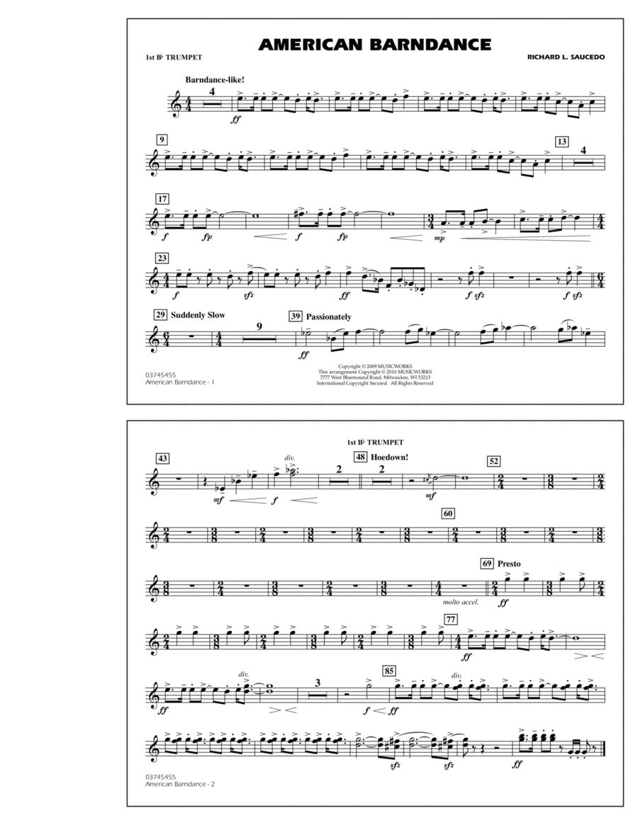 American Barndance - 1st Bb Trumpet