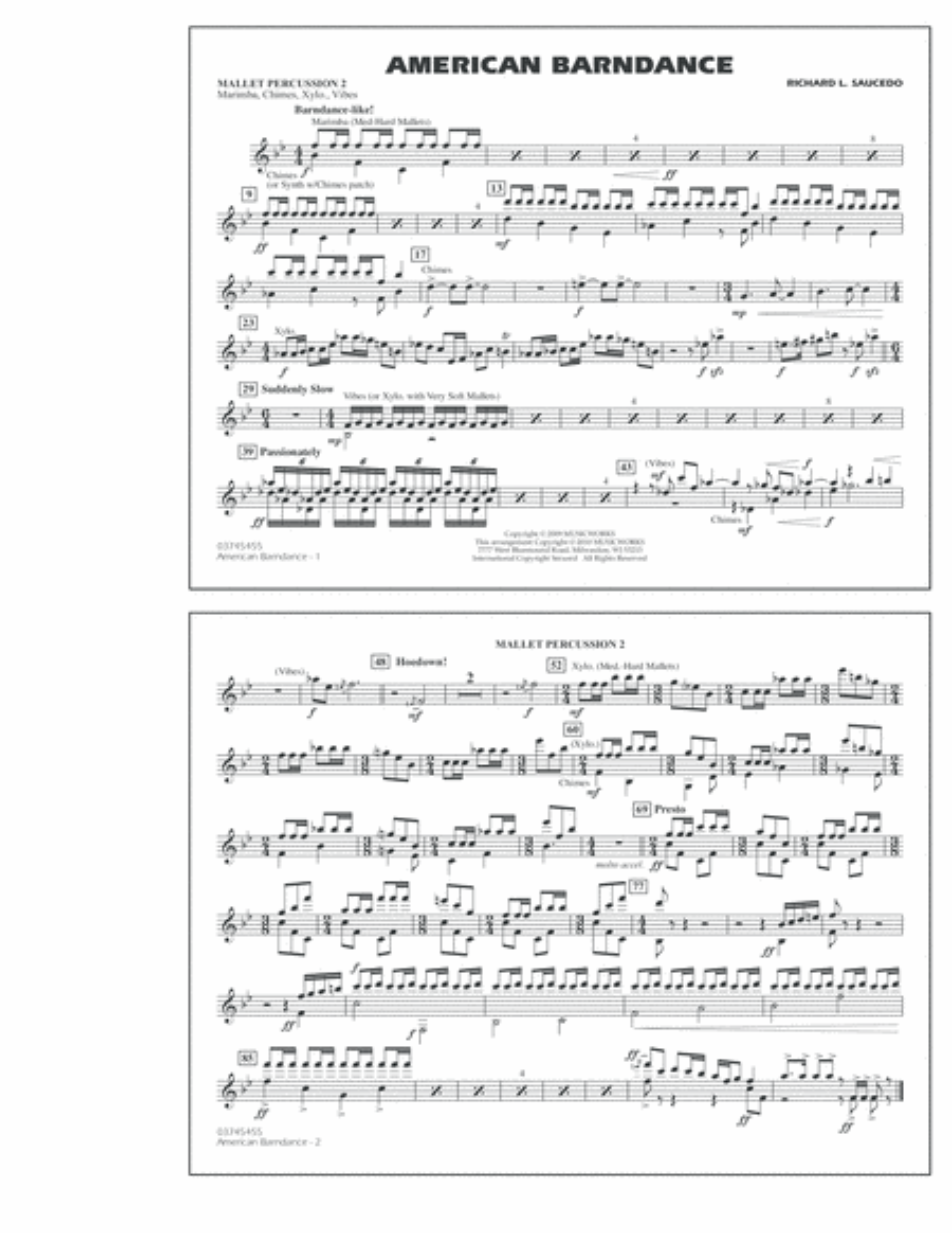 American Barndance - Mallet Percussion 2