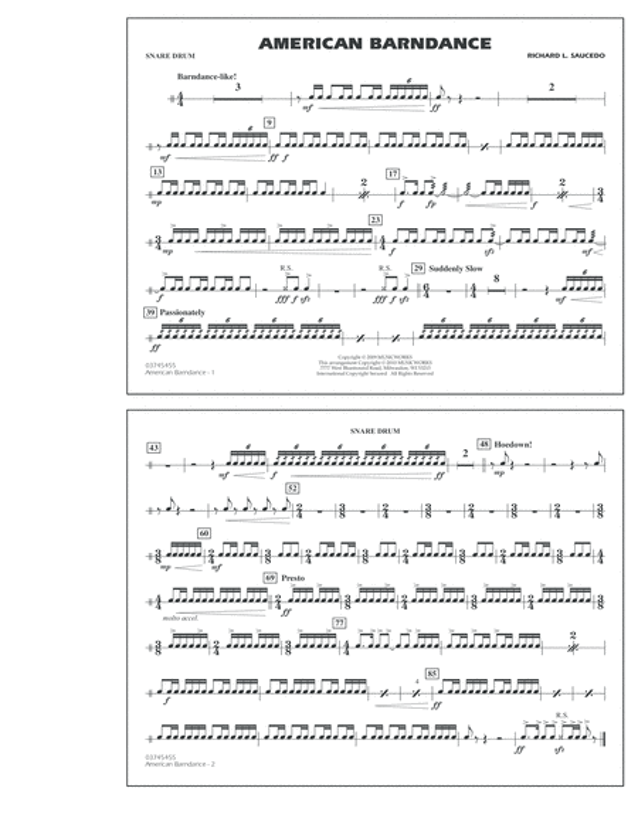 American Barndance - Snare Drum