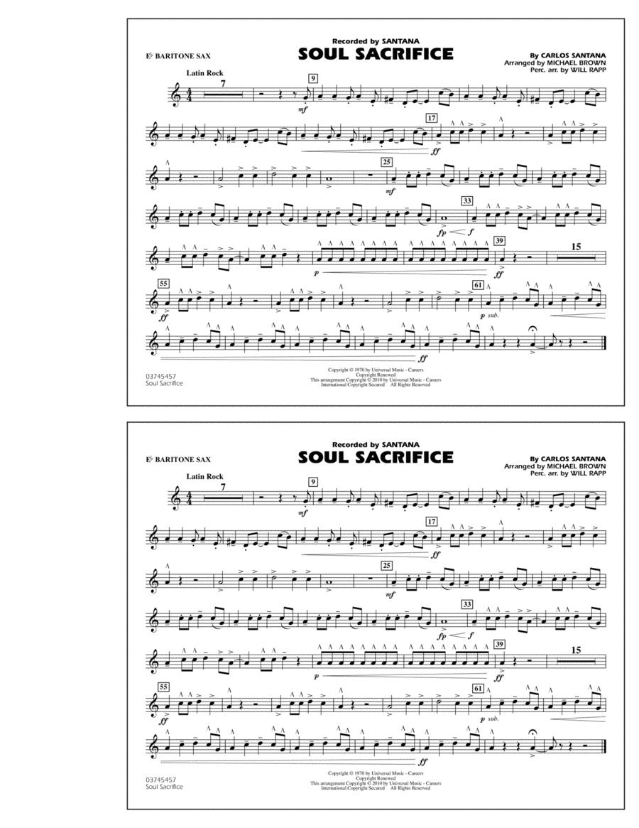 Soul Sacrifice - Eb Baritone Sax