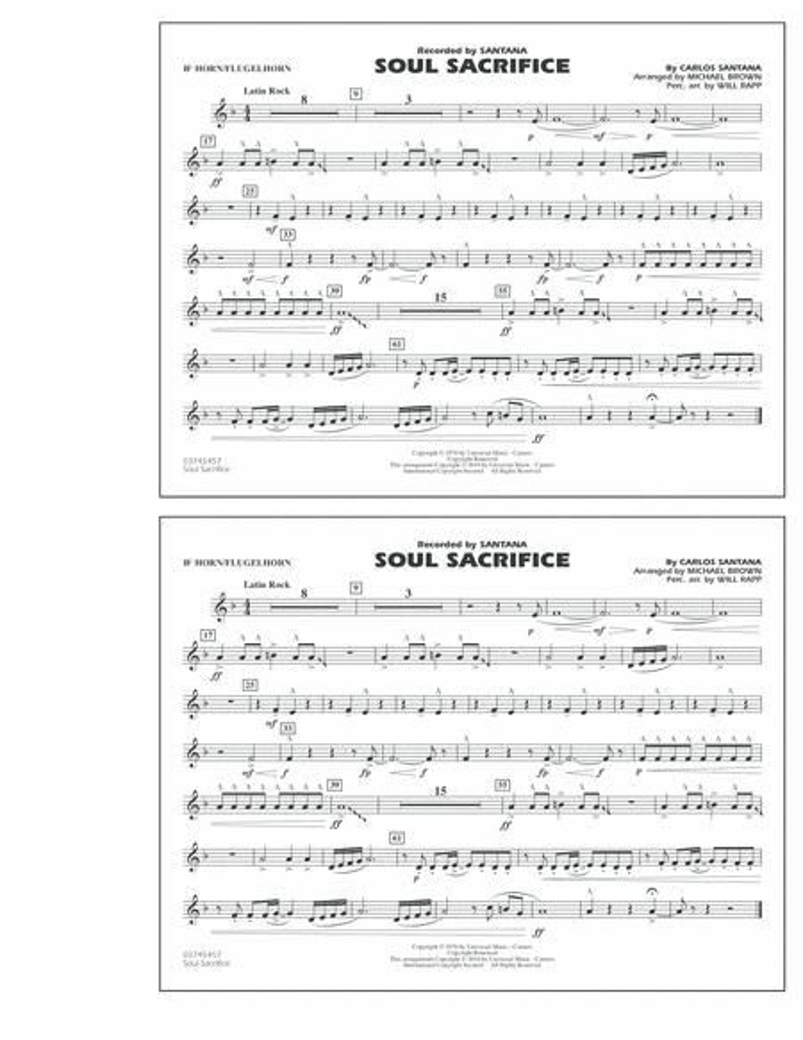 Soul Sacrifice - Bb Horn/Flugelhorn