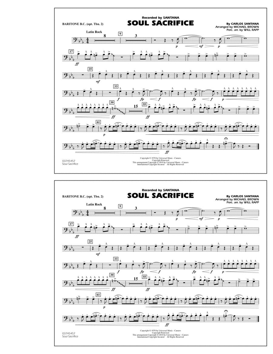 Soul Sacrifice - Baritone B.C. (Opt. Tbn. 2)