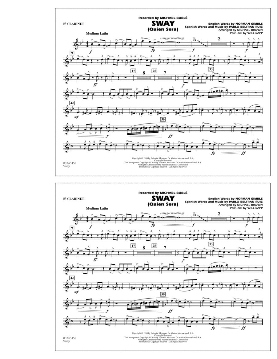 Sway (Quien Sera) - Bb Clarinet