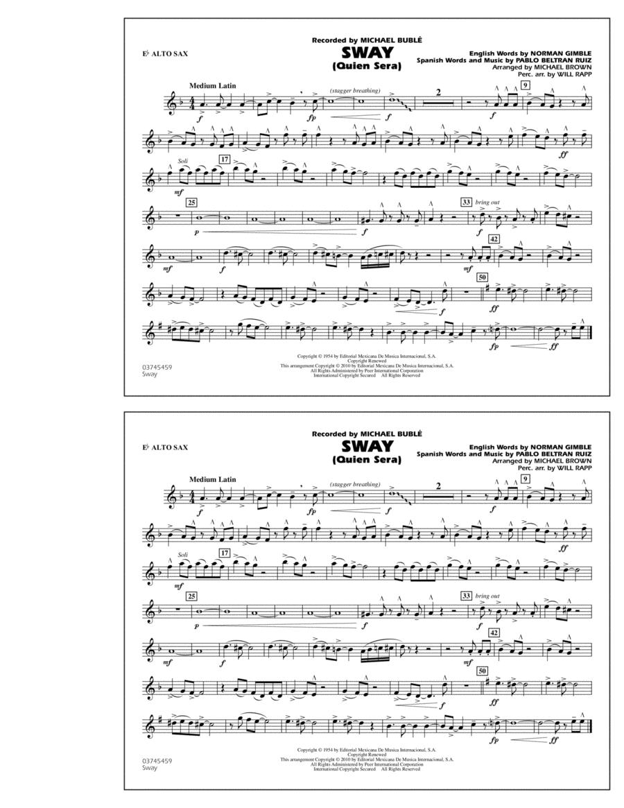 Sway (Quien Sera) - Eb Alto Sax
