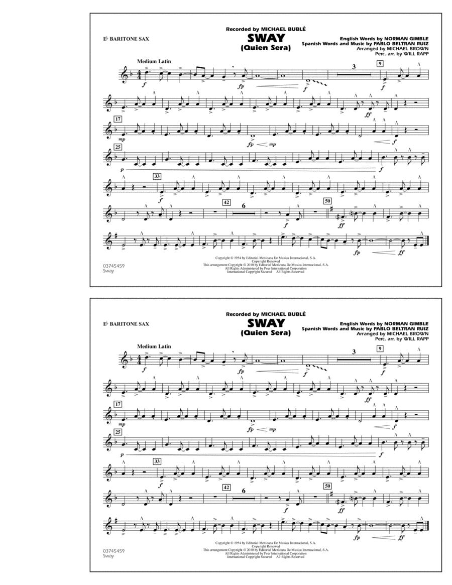 Sway (Quien Sera) - Eb Baritone Sax
