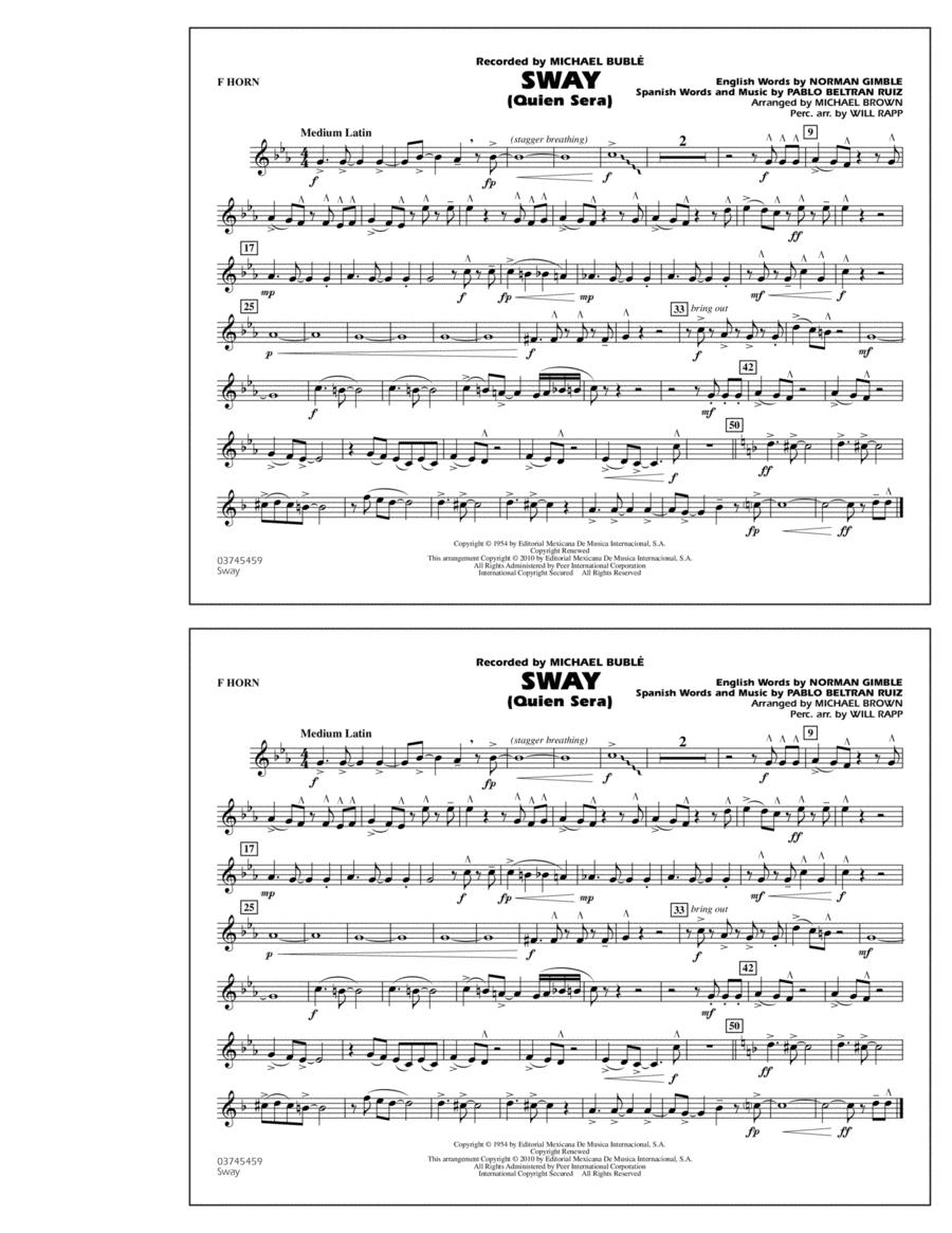 Sway (Quien Sera) - F Horn