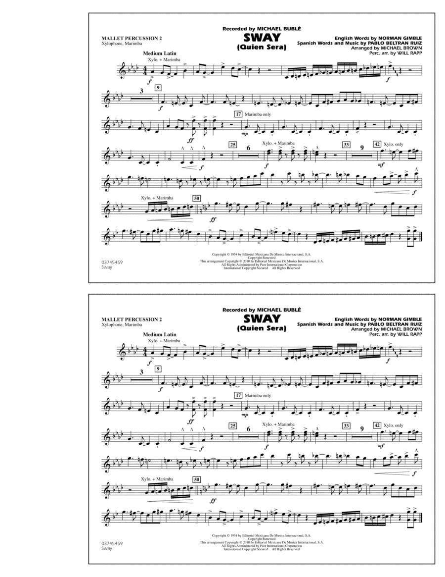 Sway (Quien Sera) - Mallet Percussion 2