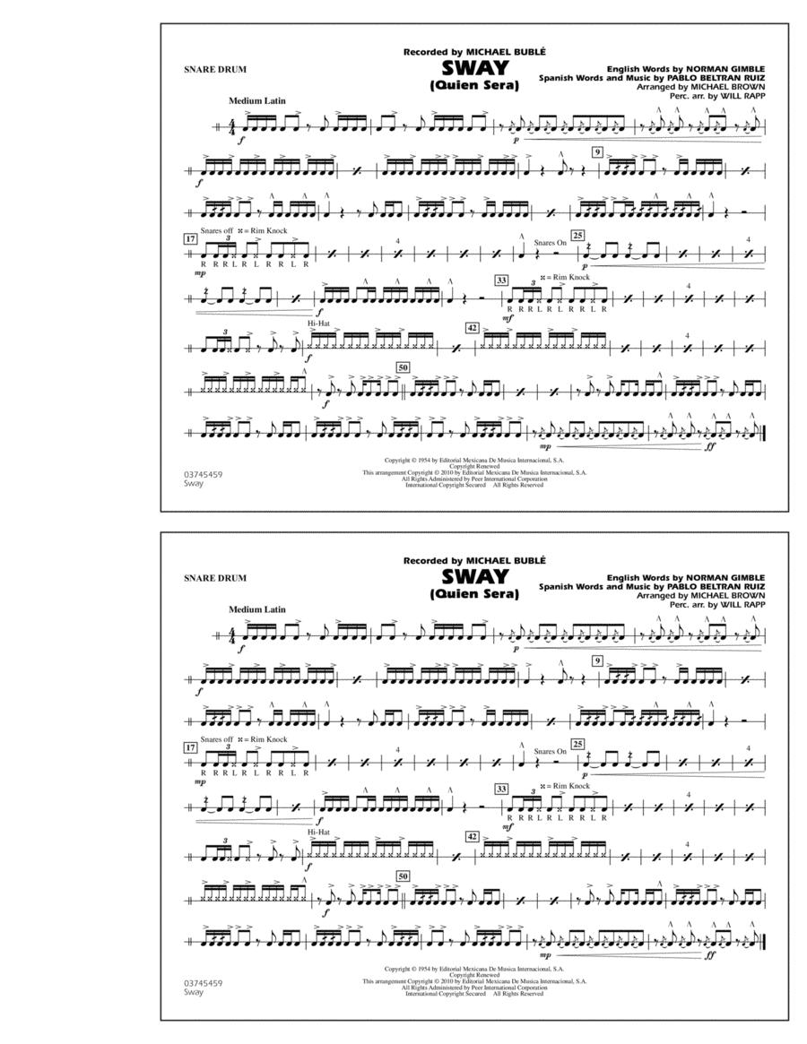 Sway (Quien Sera) - Snare Drum