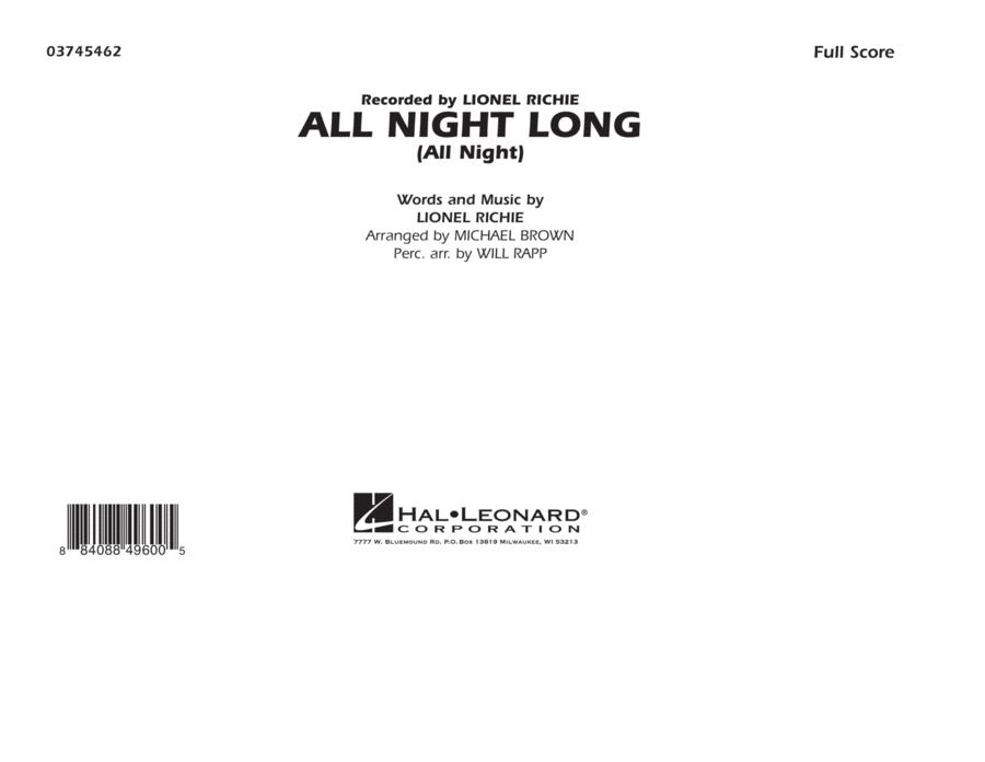 All Night Long (All Night) - Full Score